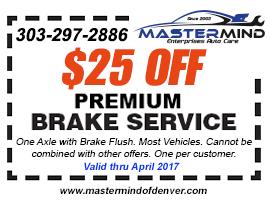 Auto care center denver denver auto repair shop specials for Honda brake service coupons