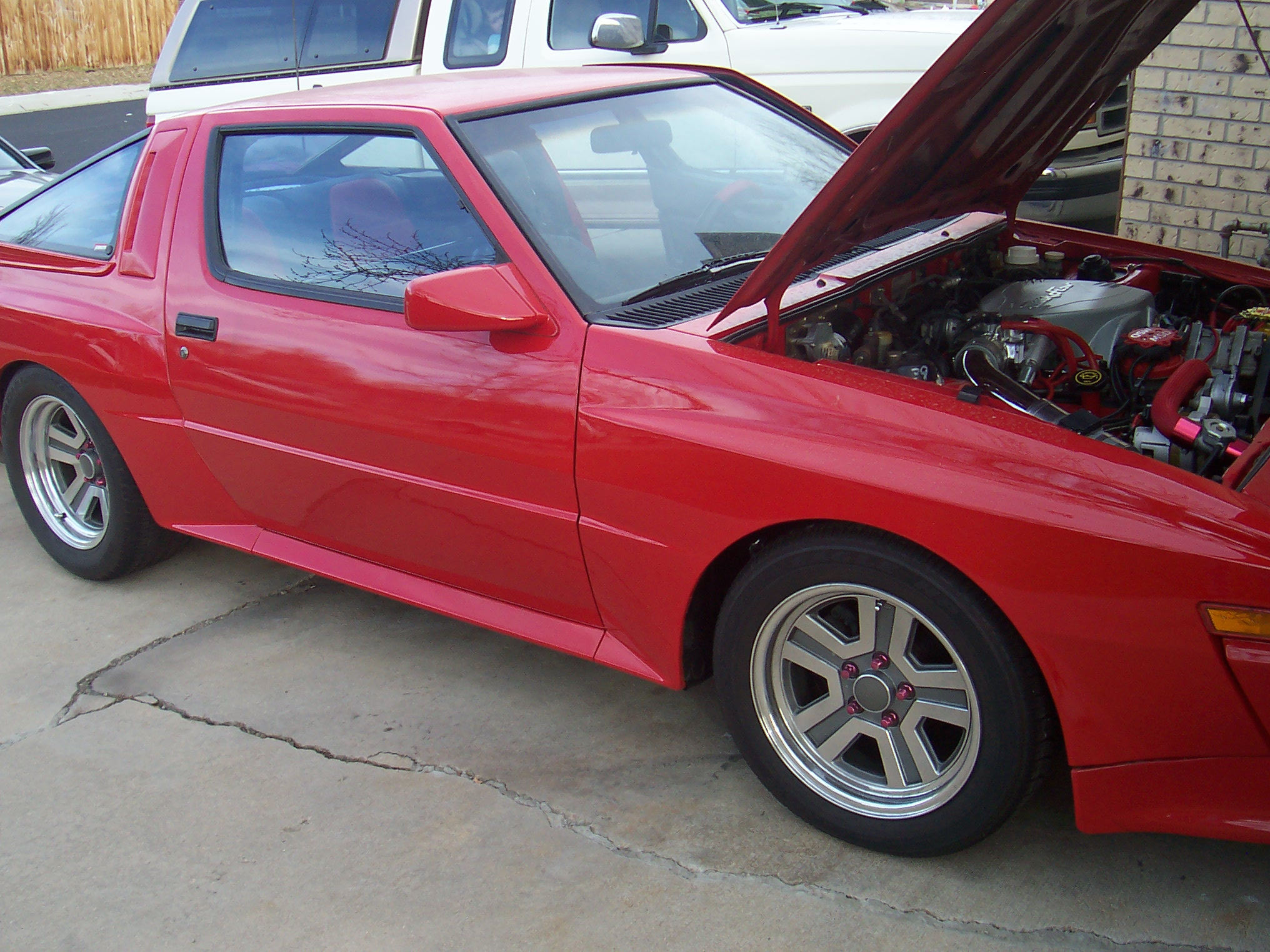 1988 mitsubishi starion   converted to a fuel injected ford v8