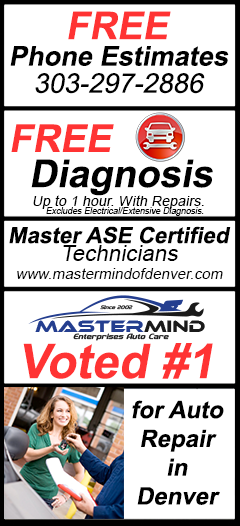 FREE Phone Estimates, FREE Diagnosis & ASE Master Certified Techncians, Voted Best Shop in Denver